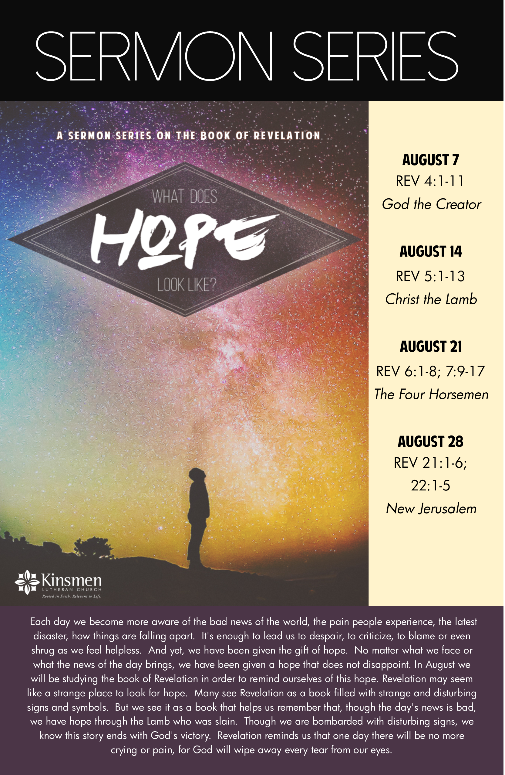 Sermon For The Feast Of St Michael All Angels: SERMON SERIES: WHAT DOES HOPE LOOK LIKE?