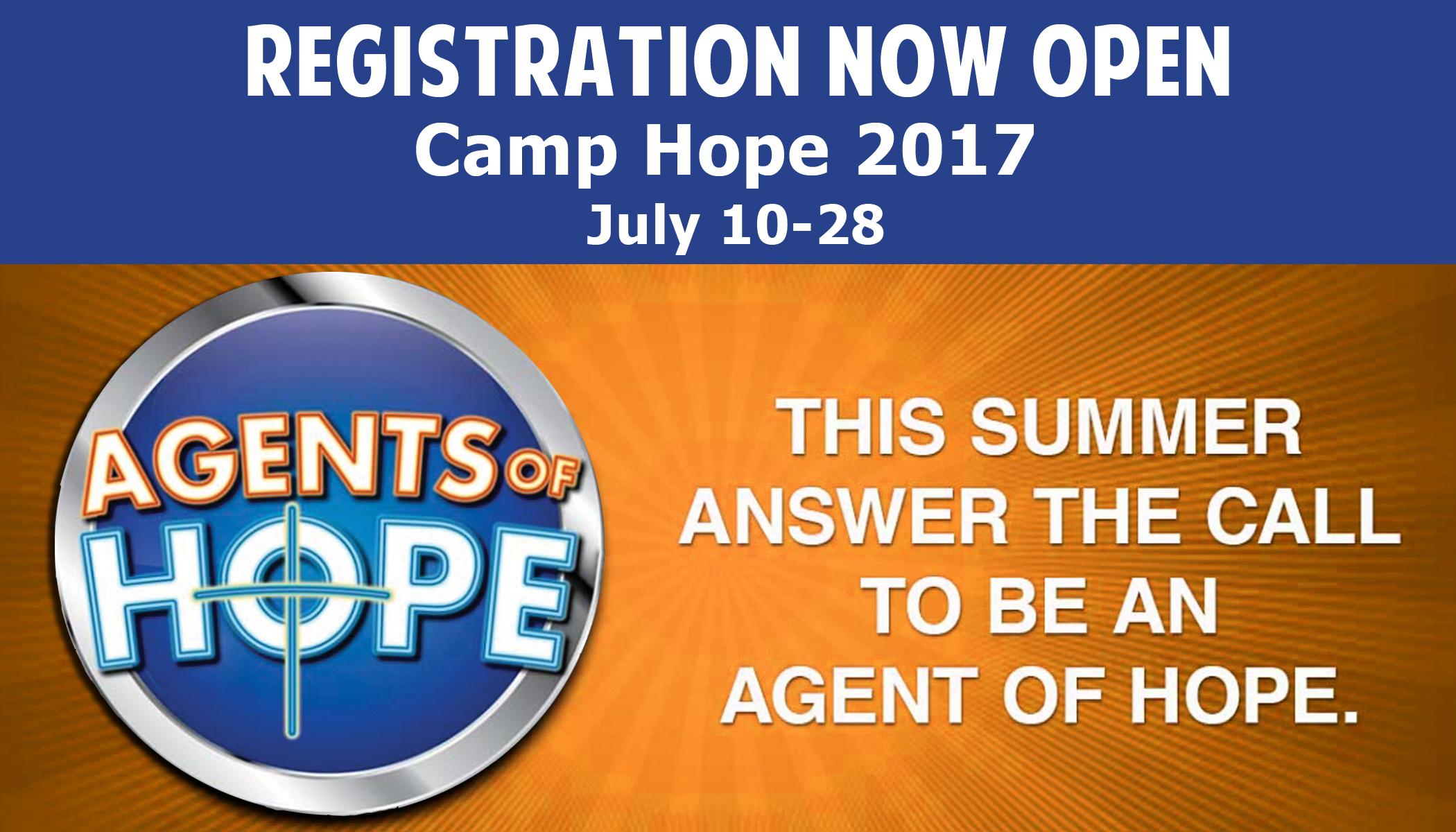 Camp-Hope-2017 Agents of Hope Camp Registration Open